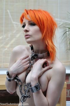 girl chained cage