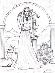 aphrodite coloring pages and coloring on pinterest