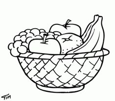 1000 images about fruit basket coloring pages on pinterest