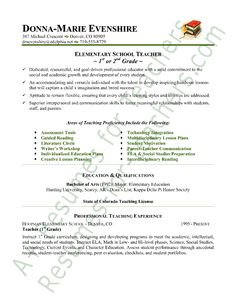 1000 images about teacher resumes on pinterest teacher resumes