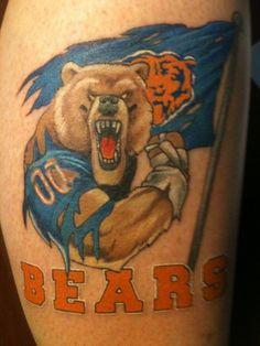 1000 ideas about chicago bears tattoo on pinterest bear tattoos football tattoo and soccer