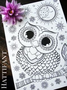 owl coloring and angel on pinterest