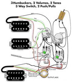 Seymour Duncan PRails wiring diagram  2 PRails, 2 Vol, 2 Tone, onoffon Mini Toggle for each