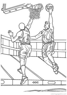 printable pictures coloring pages and basketball on pinterest