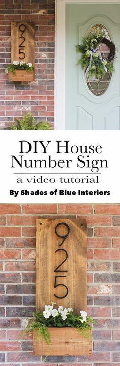 DIY House Number Sig