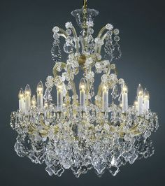 Maria Theresa Chandeliers Classic Clear And Gold Style Crystal Chandelier
