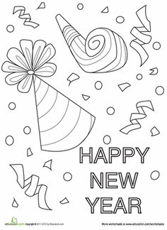 printable winter coloring pages new year 39 s new year celebration