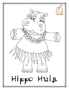 10 Cute Free Printable Hippo Coloring Pages For Toddlers | 300x231