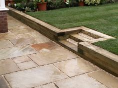 Cool Bench In Retaining Wall Retaining Wall Ideas
