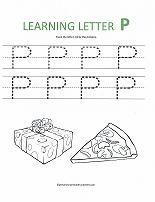 Free Preschoool Letter P