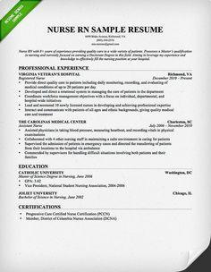 nursing resume resume skills and resume on pinterest