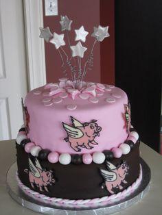 Flying Pig Birthday Cake Daddycakesbakery
