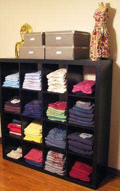 T Shirt Storage Ideas On Pinterest Organize Clothing T