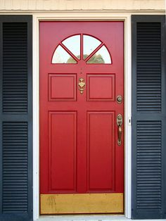 Most Popular Front Door Colors Shows A Red Front Door
