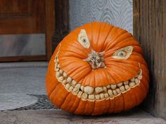 evil grin pumpkin