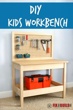 This DIY Kids Workbe