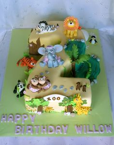 Ra Ra Cakes On Pinterest Jungle Cake Number 2 Cakes And