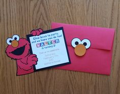 Diy elmo invitations newsinvitation find this pin and more on wise woman inviteore homemade diy elmo birthday invitations filmwisefo