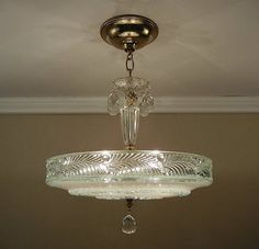 Vintage Art Deco Sunflower Shade Ceiling Lamp Light Fixture Antique Chandelier And