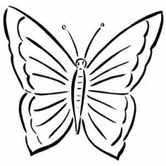 geometric butterflies coloring pages simple butterfly coloring page