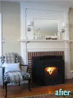Wall Sconce Over Fireplace In Family Room Livingroom