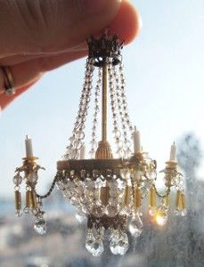 How To Chandelier With Swarovski Crystals Dollhouse Tutorials Pinterest Supplies And Chic