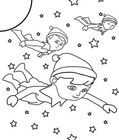 coloring coloring pages and elf on the shelf on pinterest