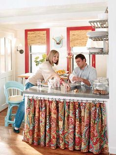 Curtains As Kitchen Cabinet Doors On Pinterest Curtains