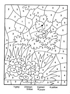 color by numbers coloring pages for kids and coloring pages on