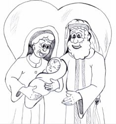 Abraham and Sarah Coloring Pages - Best Coloring Pages For Kids | 253x235