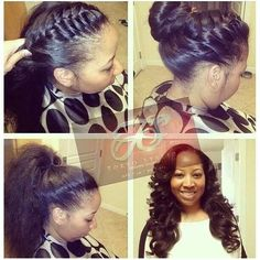things to wear on pinterest vixen sew in ninja bun and sew ins