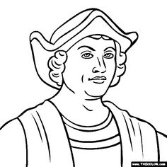 Christopher Columbus Coloring Pages. hamburger food clipart ...