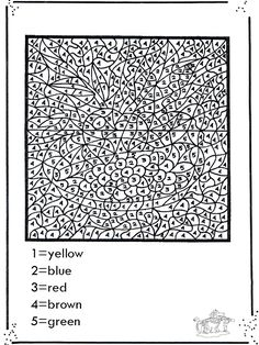 color by numbers coloring pages and coloring on pinterest