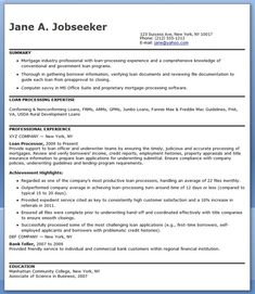 sample cover letter mortgage loan processor career life
