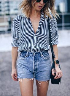 menswear striped shi