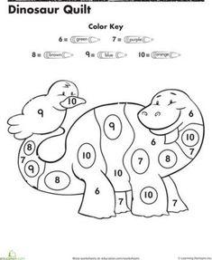 color by number preschool color by number worksheets preschool color