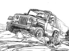 Jeep Wrangler Coloring Pages Book On Pinterest Jeeps Books And For