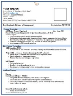 example of cv resume format and cv template on pinterest