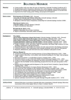 teacher resumes resume and teaching on pinterest