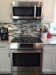 1000 Ideas About Over The Stove Microwave On Pinterest Microwave Shelf Slide In Range And Stoves