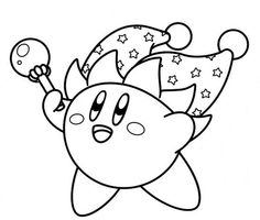 ice kirby coloring pages kirby coloring page or template birthday