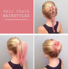 click on the picture for tips on how to apply hair chalk hairchalk hairchalkhowto hair