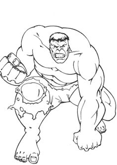 hulk coloring pages and coloring on pinterest