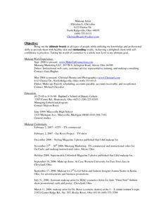 artist resume makeup artists and resume on pinterest