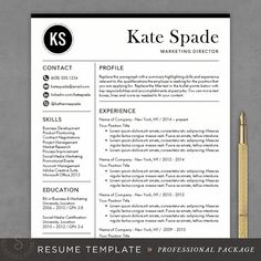 cv template resume and resume templates on pinterest