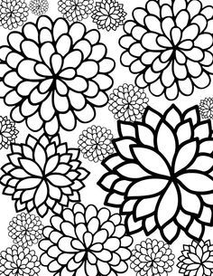 1000 images about flowers free adult coloring pages on