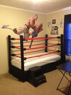 Wrestling Ring Bed Made Out Of PVC Pipe Jacksons Room