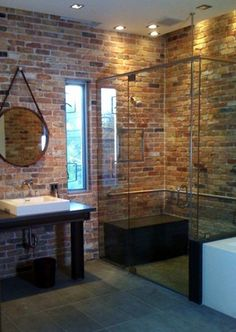 Master Bedroom Renovation Inspiration Color Pallet Exposed Red Brick Grey Walls White Trim