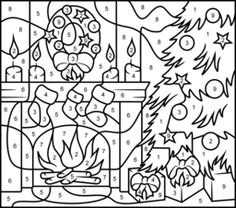 color by numbers christmas colors and faux stained glass on pinterest