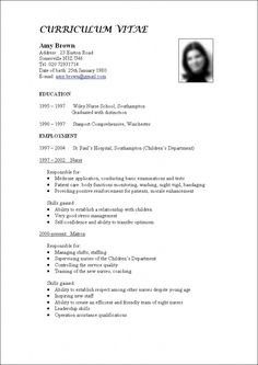 cv structure curriculum and make a resume on pinterest